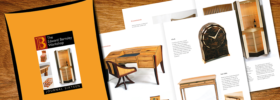 Brochure and logo design for furniture maker, Edward Barnsley, bespoke pieces of hand-made furniture, near Portsmouth, Hampshire