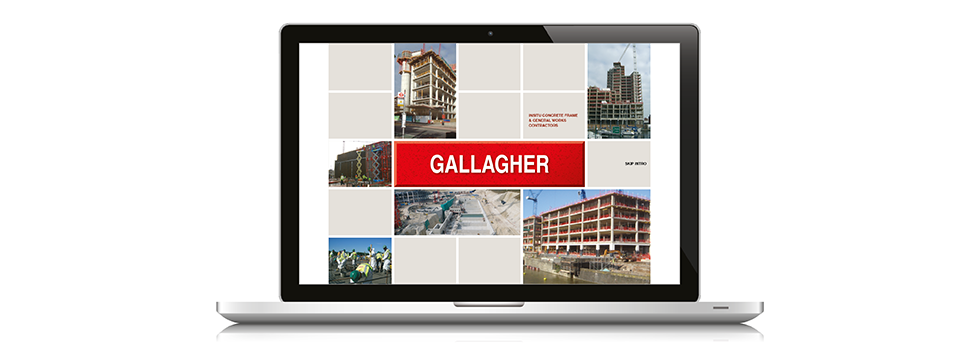 Website design for building company, M J Gallagher, London