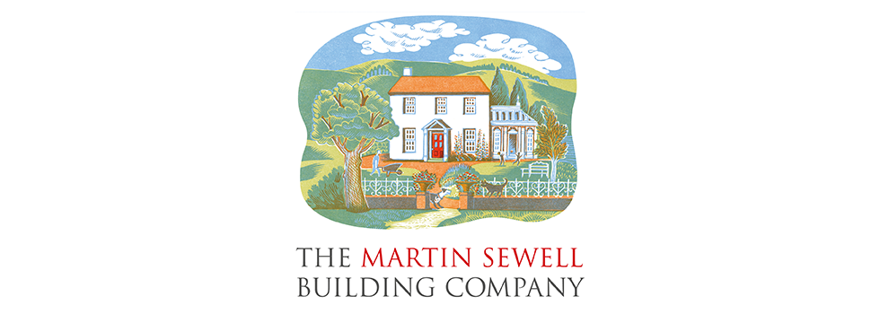 Logo design for building company, The Martin Sewell Building Company, West Sussex