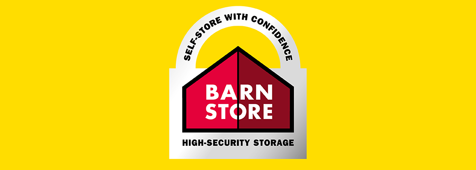 Brand identity design for Barn Store, independent, 24-hour access self-storage business, Hampshire, Isle of Wight, Dorset, Kent and Staffordshire