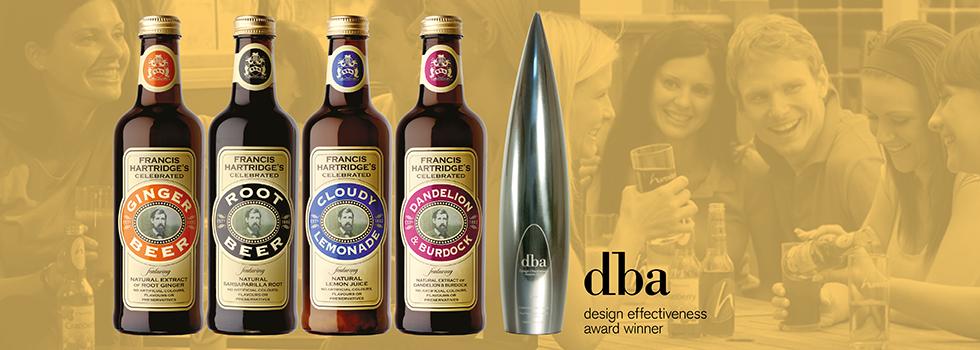 Celebrated Range soft drink label design for soft drinks manufacturer, Hartridges Soft Drinks, near Portsmouth, Hampshire