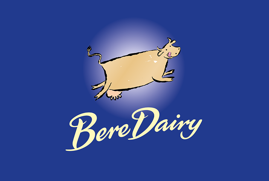 Brand identity design for ice cream pacakging, Bere Dairy, near Portsmouth, Hampshire