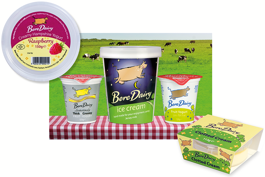 Bere Dairy yogurt, ice cream and clotted cream