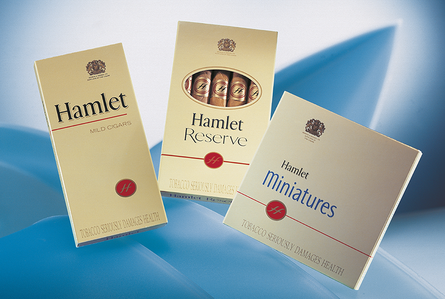Cigar packaging design for Hamlet Cigars, Cardiff, Wales