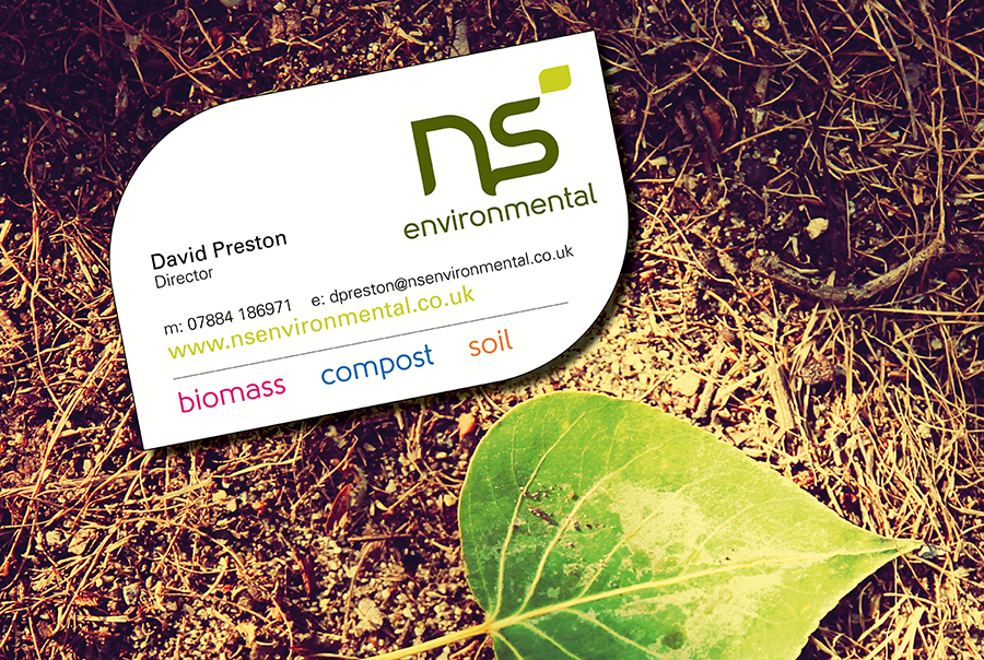 Name generation and logo design for N S Environmental, near Portsmouth, Hampshire. Soil and compost transportation specialist, and biomass energy production.