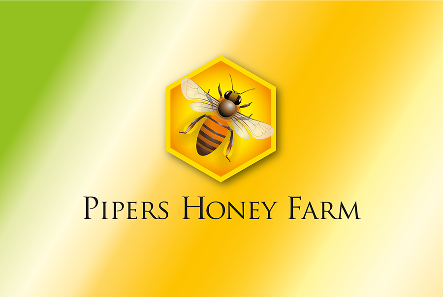 Brand identity design for Pipers Honey Farm, honey producer, Hampshire