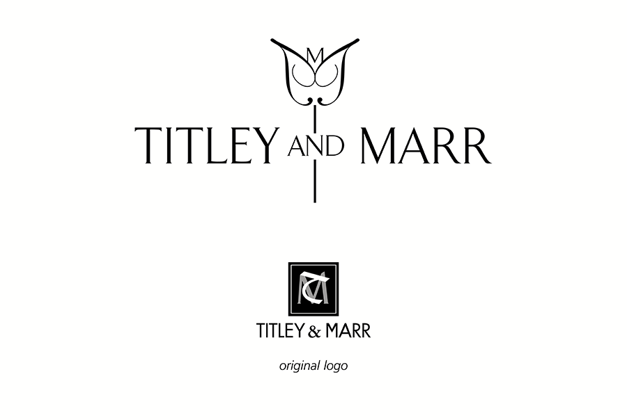 Logo design and brochure and leaflet design for furnishing fabric manufacturer, Titley and Marr, near Portsmouth, Hampshire
