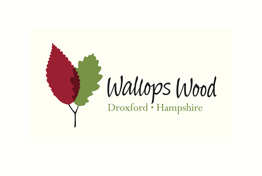 Logo design for Wallops Wood, a collection of SMEs near Southampton, Hampshire