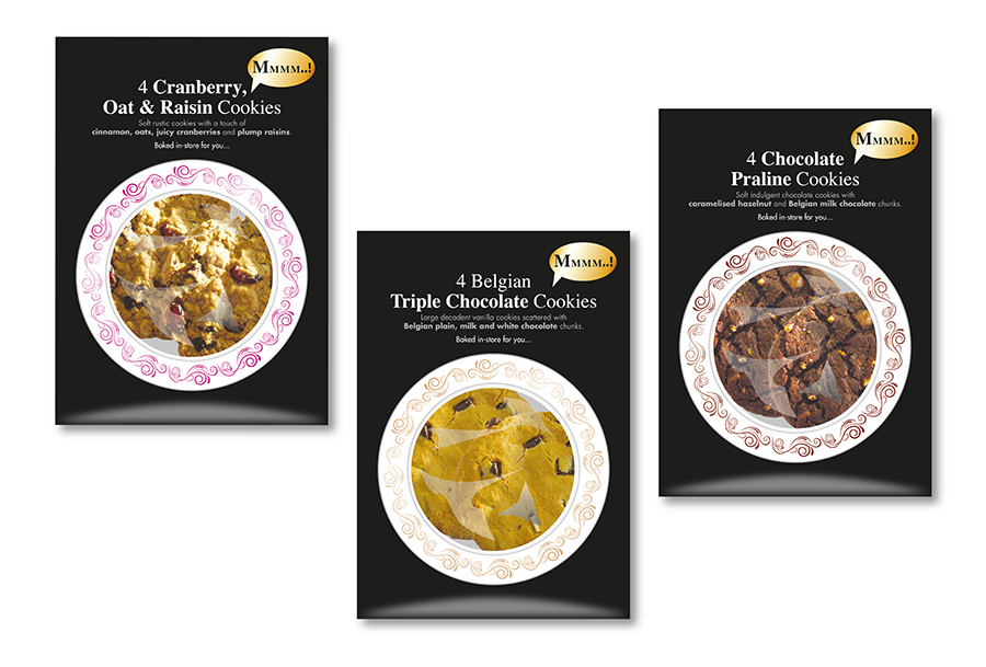 Cookie product concept packaging design for biscuit manufacturer, Rich Products, Gosport, Hampshire
