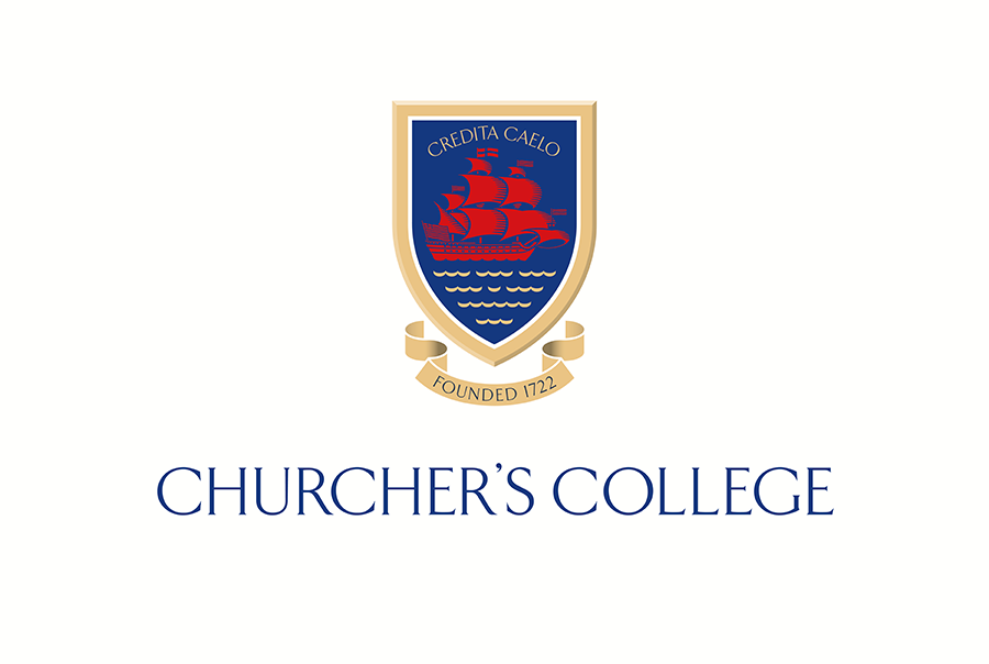 Brand identity design for Churcher's College, Petersfield, Hampshire