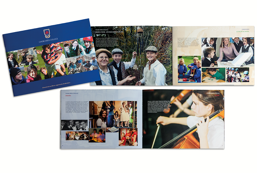 Brand identity, brochure and prospectus design for Churcher's College, Petersfield, Hampshire