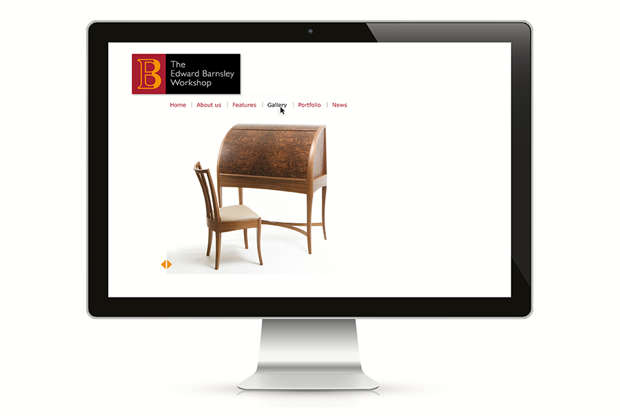 Web design for furniture maker, Edward Barnsley, bespoke pieces of hand-made furniture, near Portsmouth, Hampshire