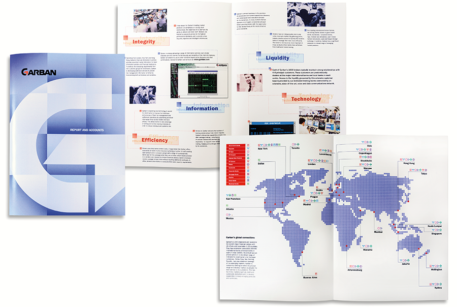 Report and accounts brochure design for Garban