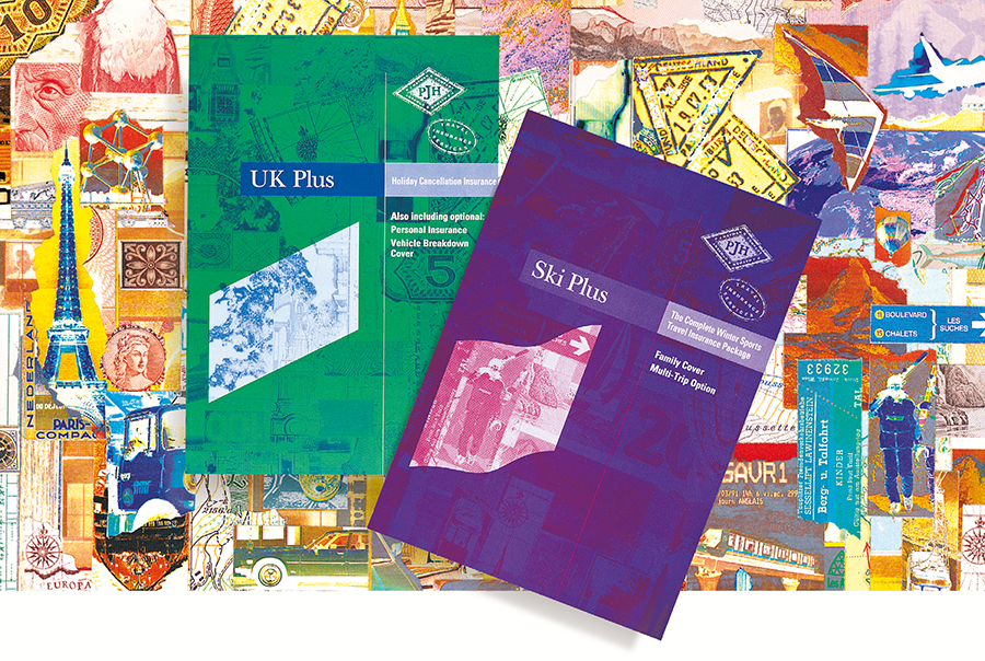 Literature design for specialist travel insurer, P J Hayman & Company, Portsmouth, Hampshire