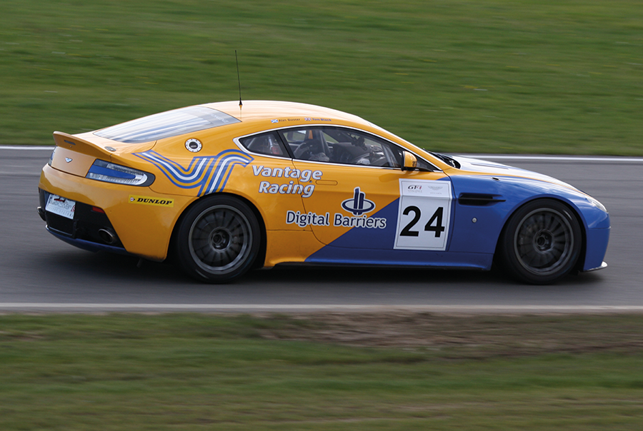 Aston Martin racing car livery design for Vantage Racing, near Portsmouth, Hampshire